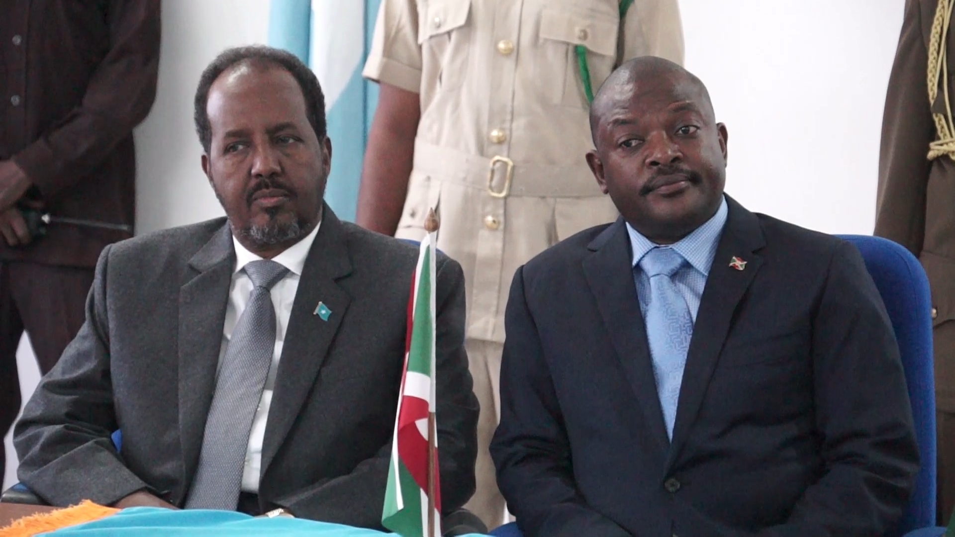 Selected frame from video story SOMALIA / BURUNDI PRESIDENT NKURUNZIZA