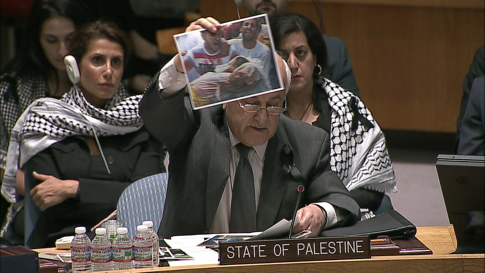 Selected frame from video story UN / ISRAEL PALESTINE CONFLICT