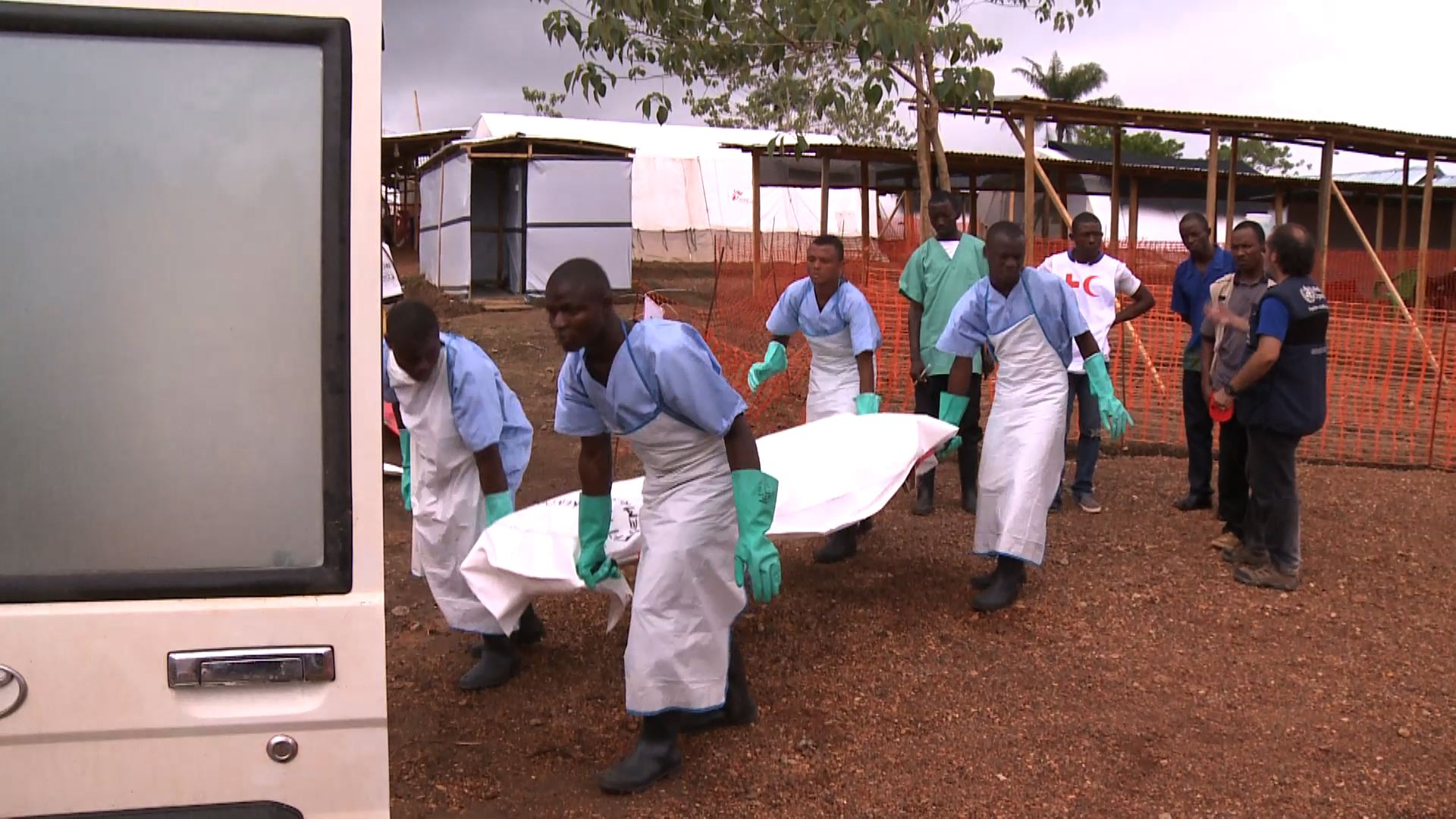 Selected frame from video story WHO / EBOLA UPDATE