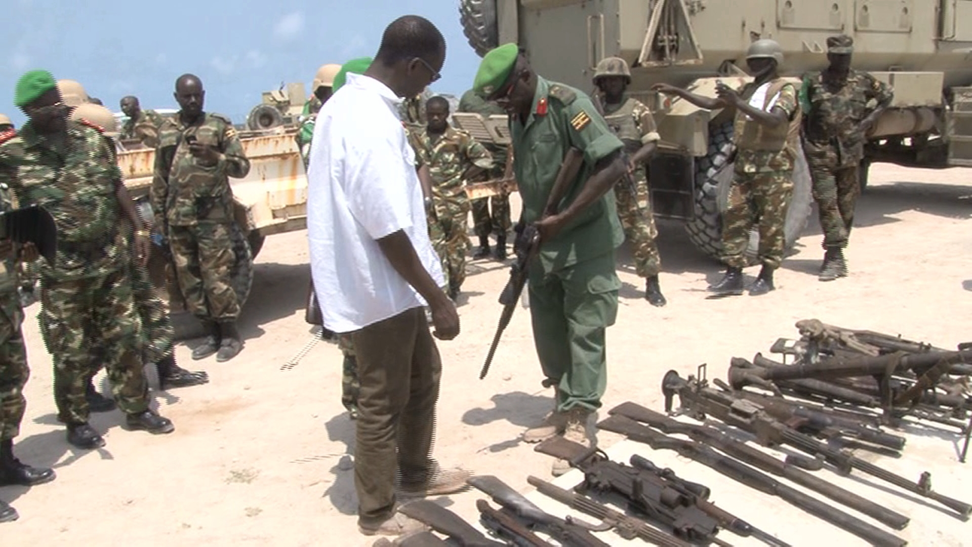 Selected frame from video story SOMALIA / AL SHABAAB WEAPONS