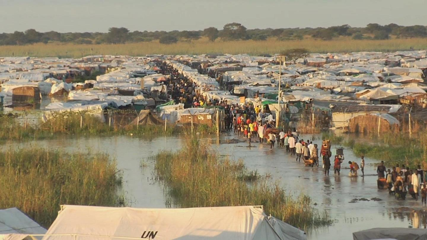 Selected frame from video story SOUTH SUDAN / BENTIU FLOODINGS