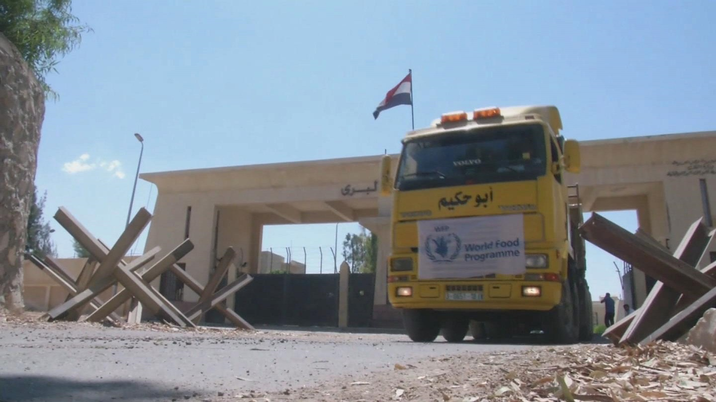 Selected frame from video story GAZA / WFP AID CROSSING