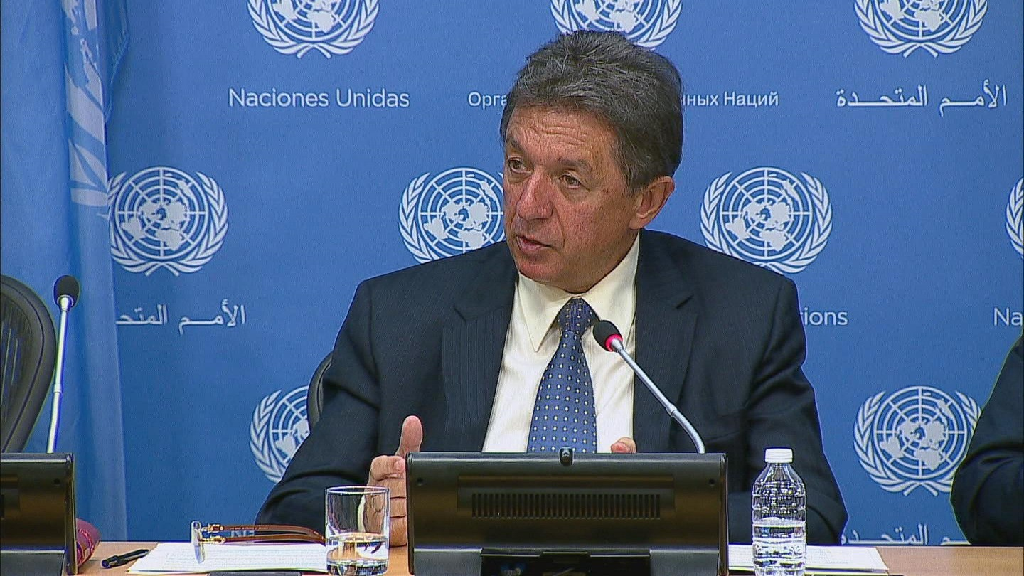 Selected frame from video story UN / UKRAINE SERGEYEV