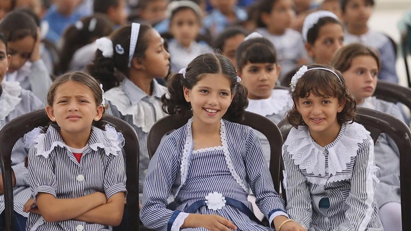 Selected frame from video story GAZA / SCHOOL OPENING