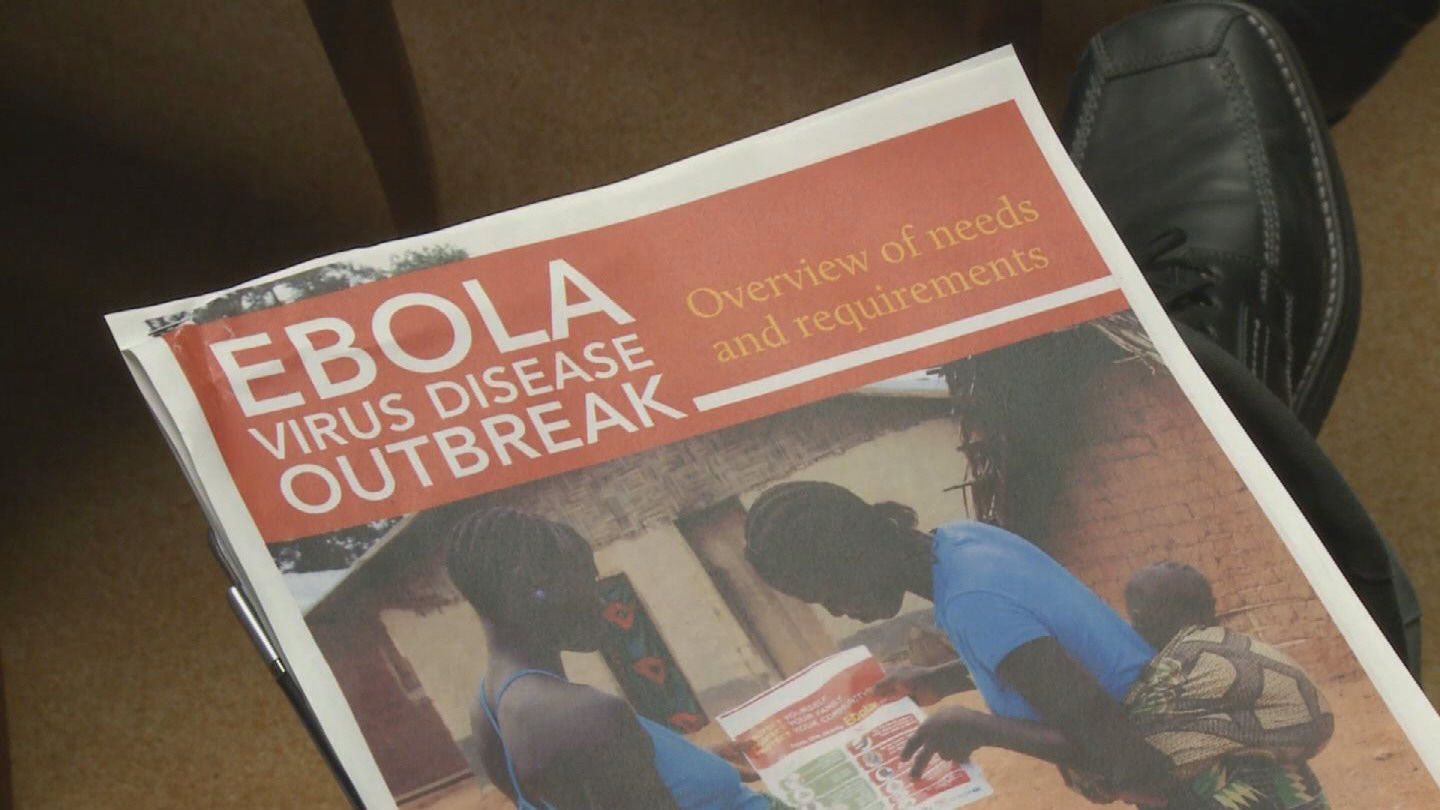 Selected frame from video story GENEVA / EBOLA