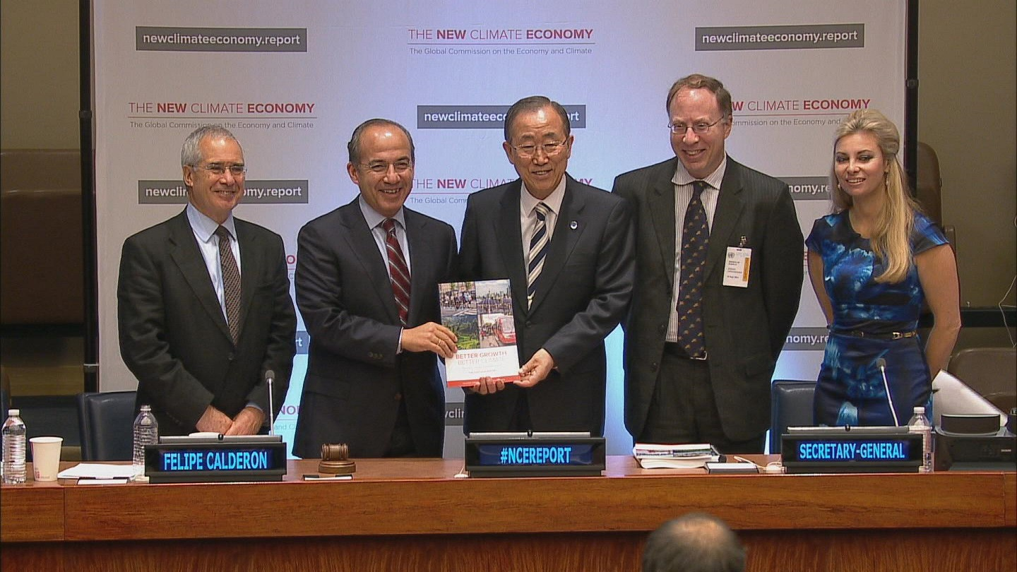 Selected frame from video story UN / CLIMATE ECONOMY REPORT WRAP