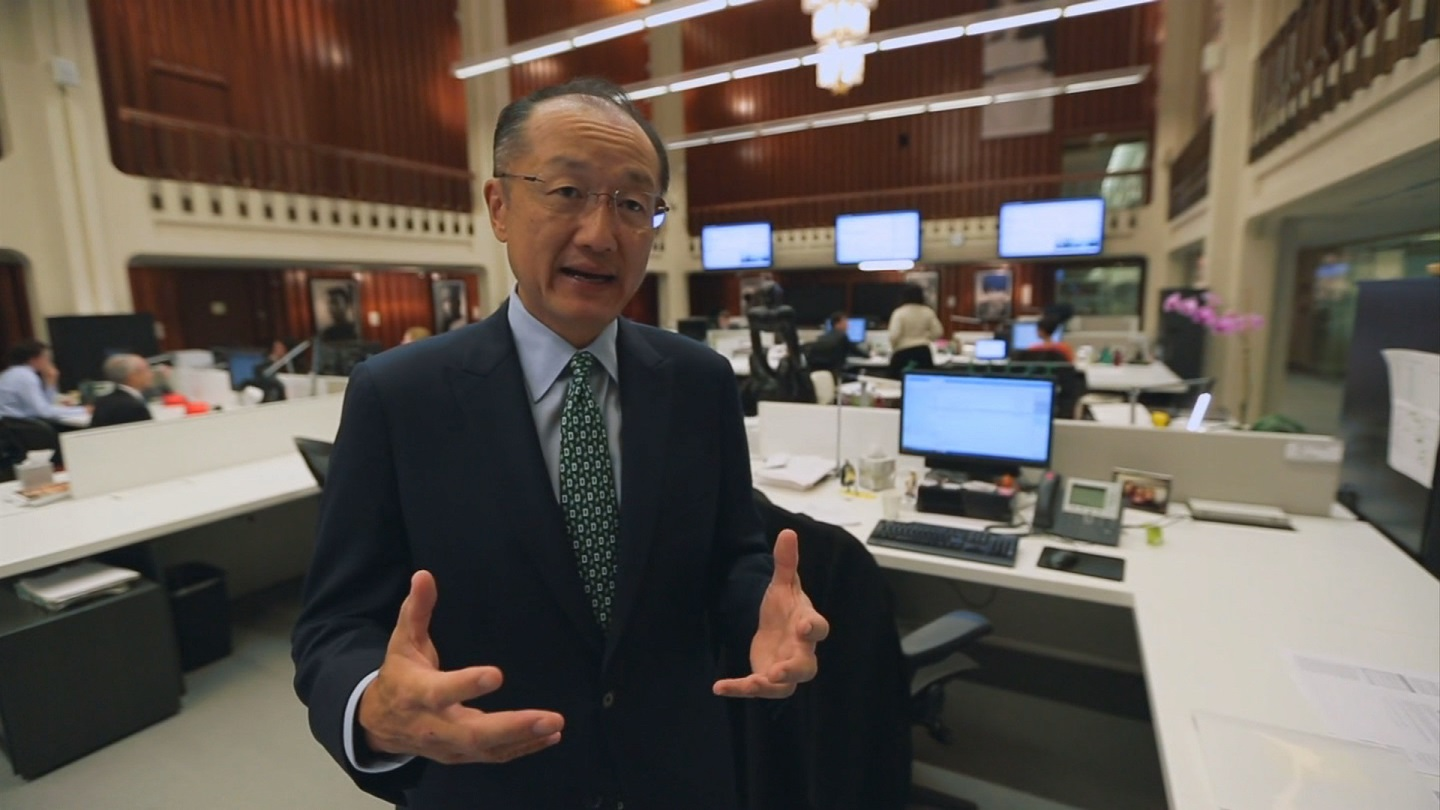 Selected frame from video story WORLD BANK/ EBOLA JIM KIM