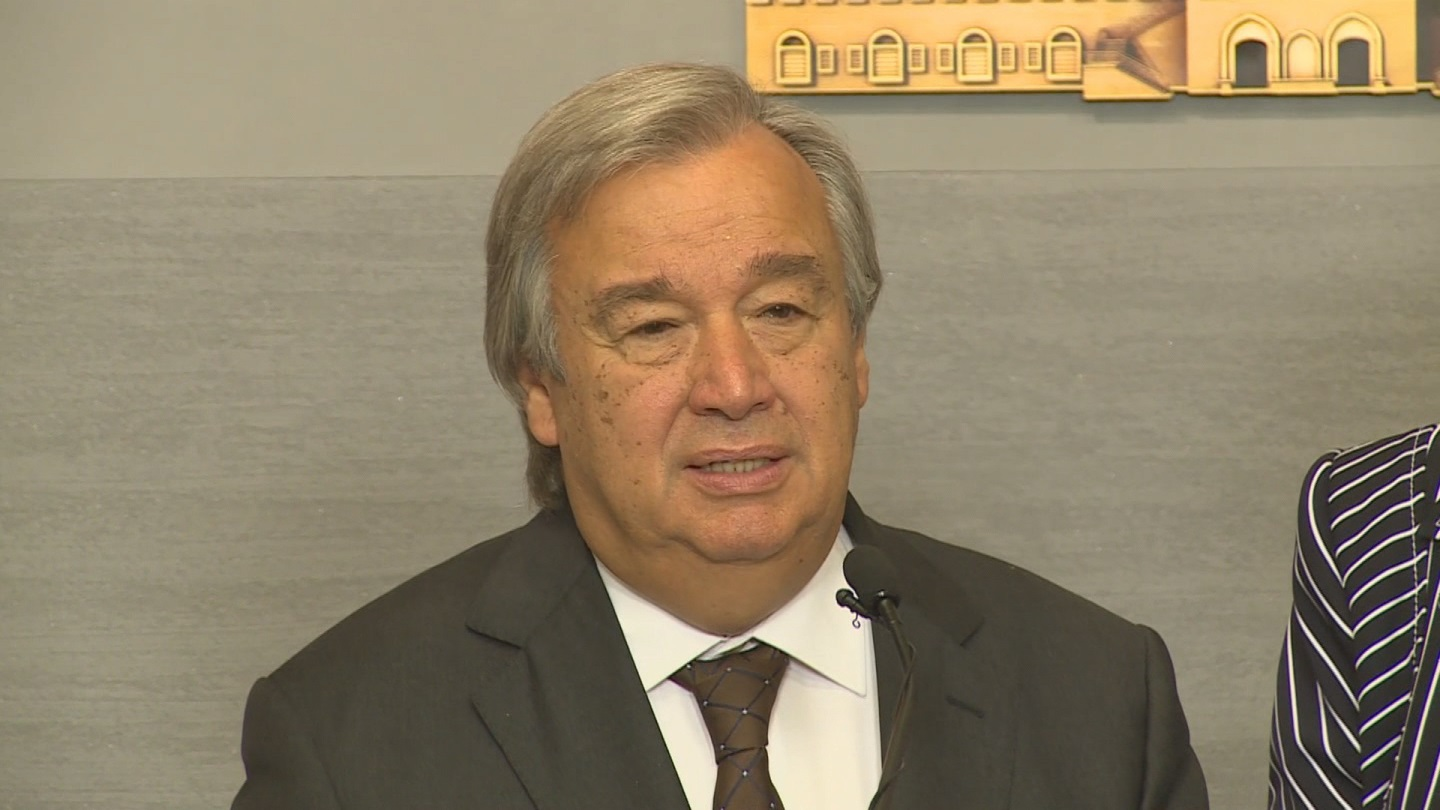 Selected frame from video story LEBANON / GUTERRES SYRIA