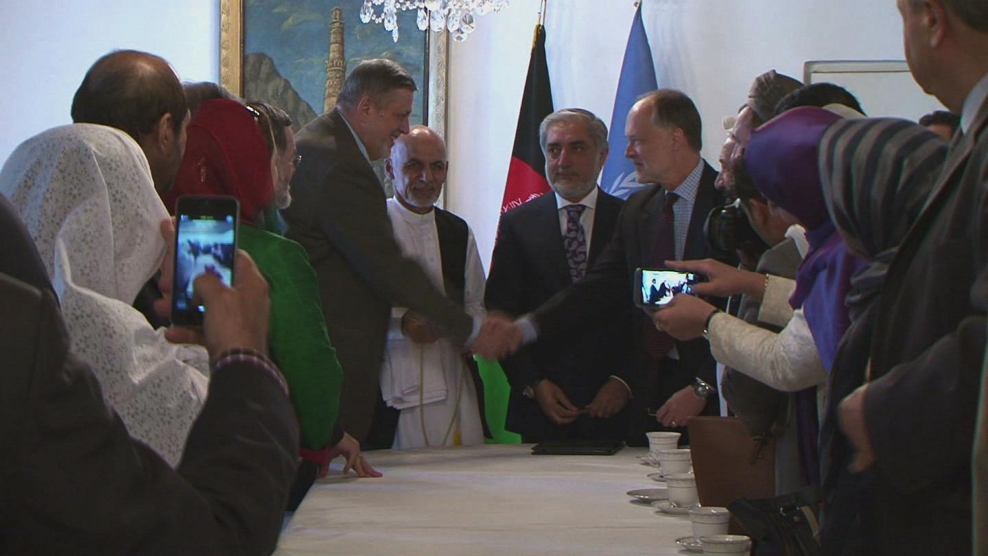 Selected frame from video story AFGHANISTAN / NATIONAL UNITY AGREEMENT