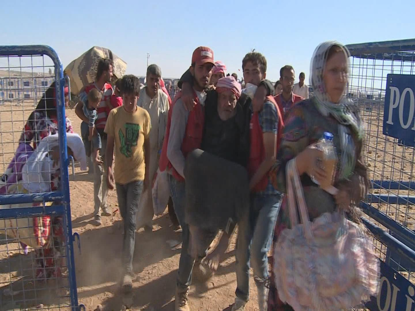 Selected frame from video story TURKEY / SYRIAN REFUGEES
