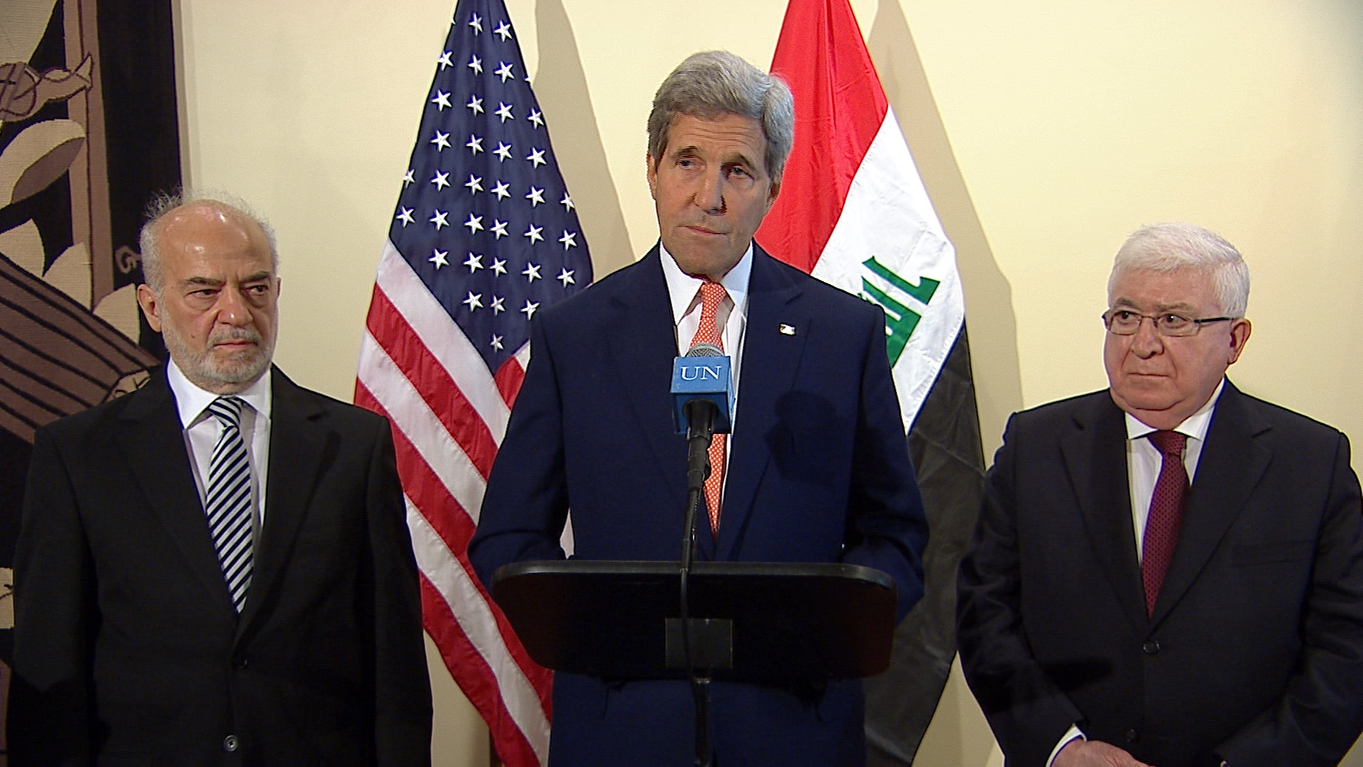 Selected frame from video story UN / KERRY IRAQ