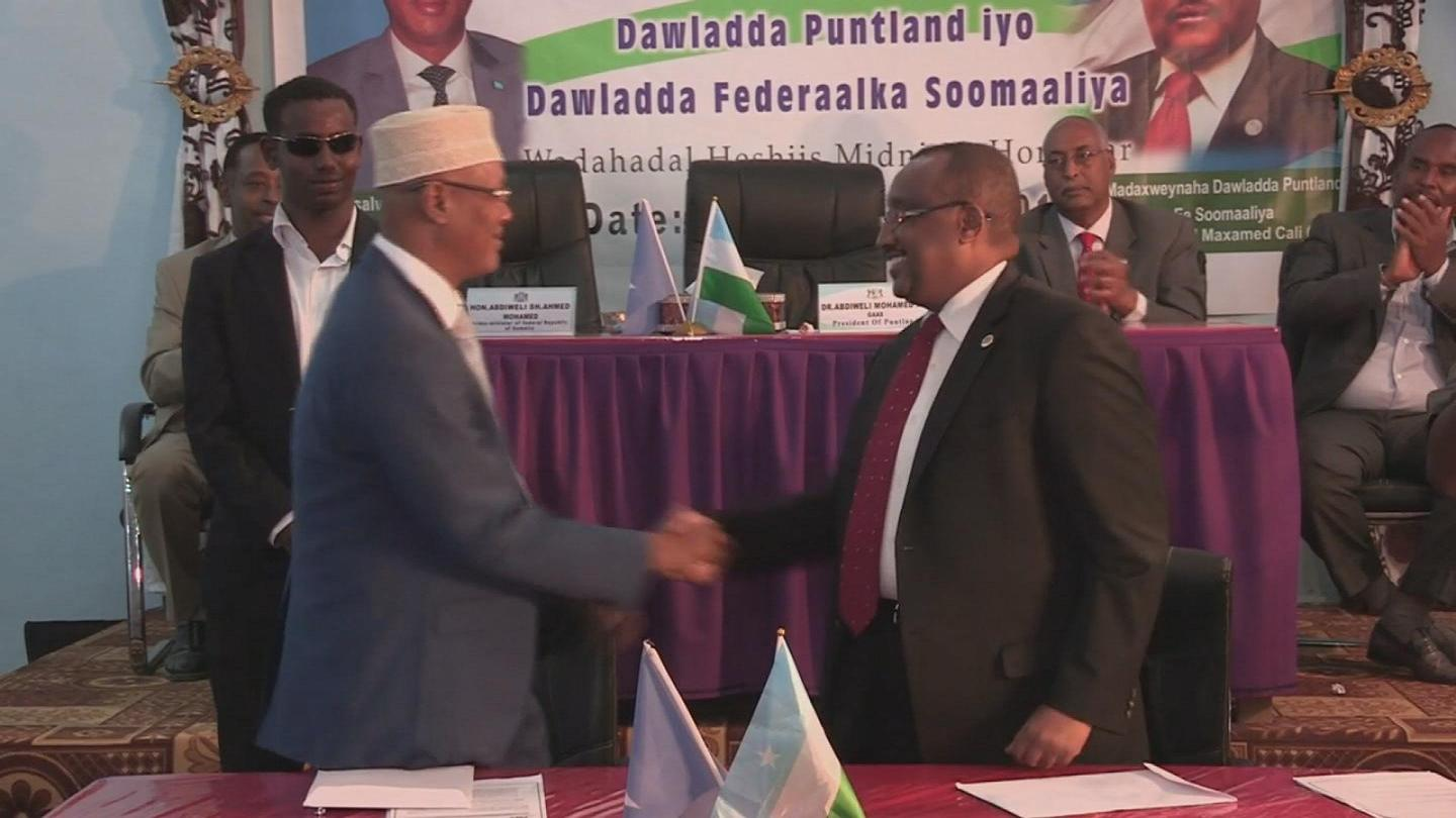 Selected frame from video story SOMALIA / PUNTLAND AGREEMENT