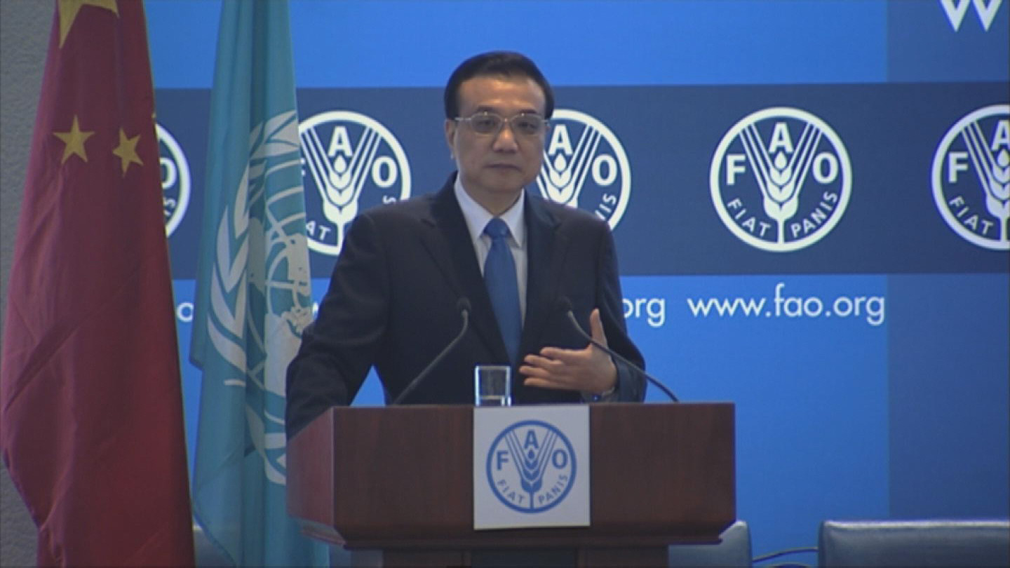 Selected frame from video story FAO / LI KEQIANG