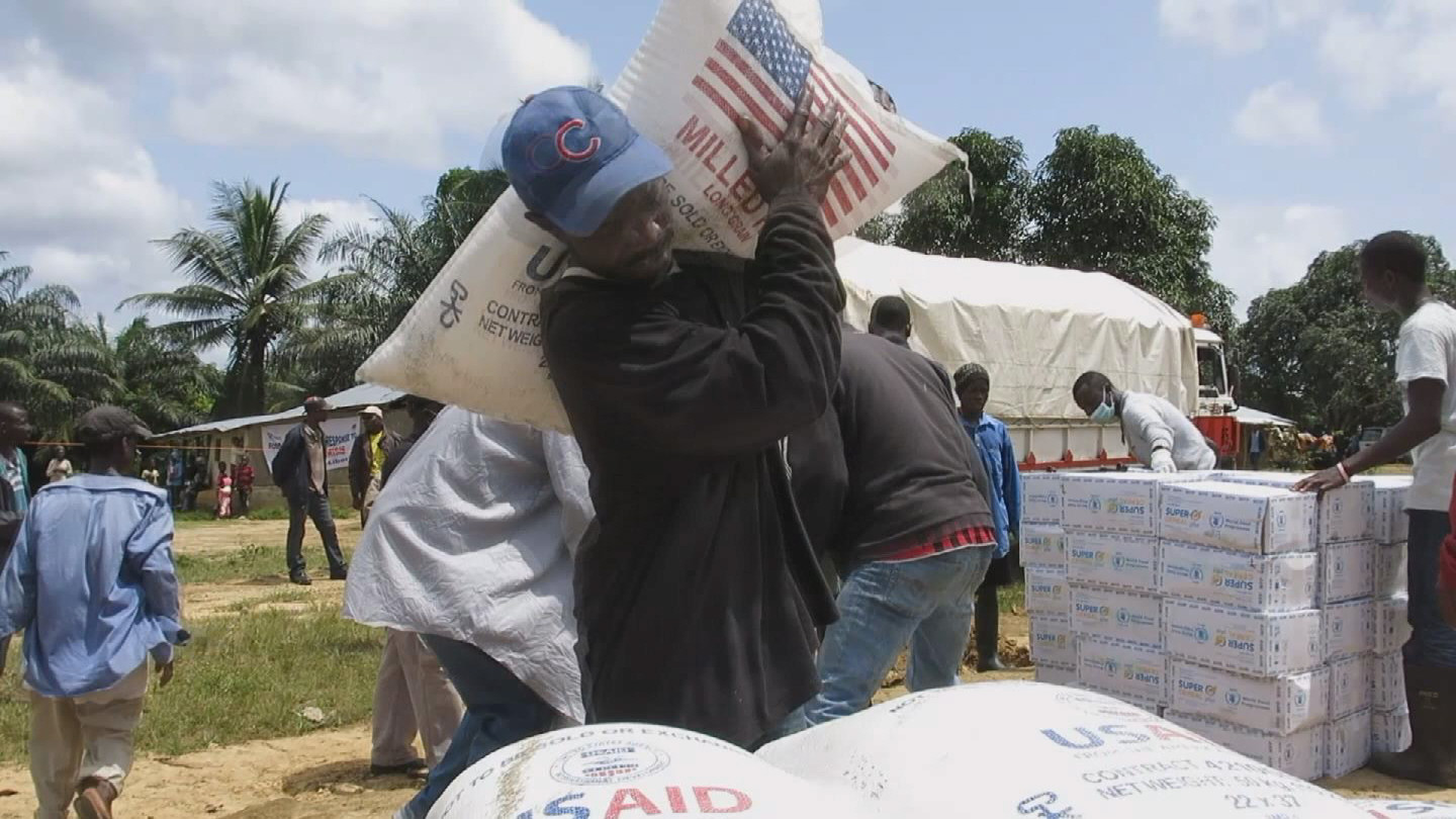 Selected frame from video story WEST AFRICA / EBOLA FOOD AID