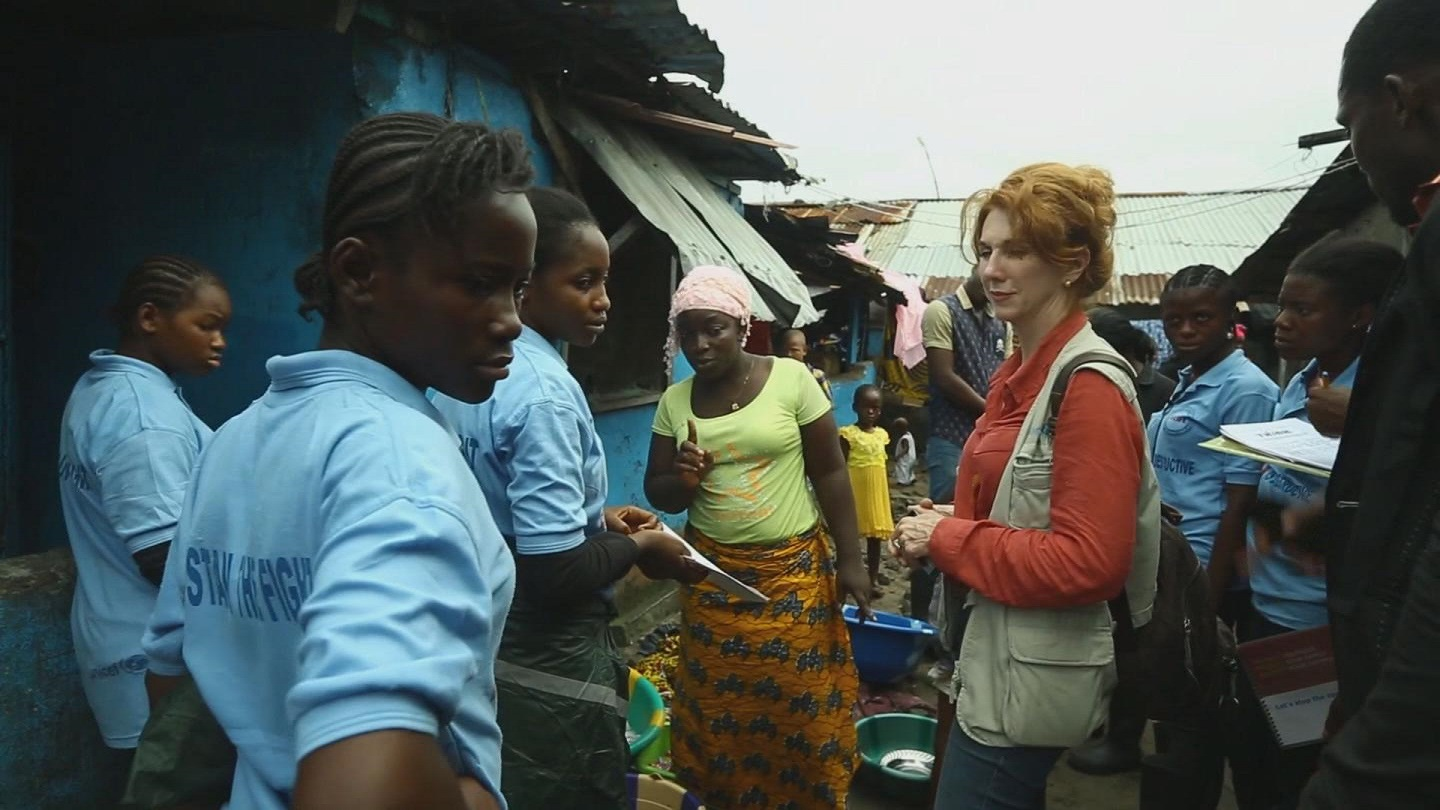 Selected frame from video story UN / EBOLA CHILDREN