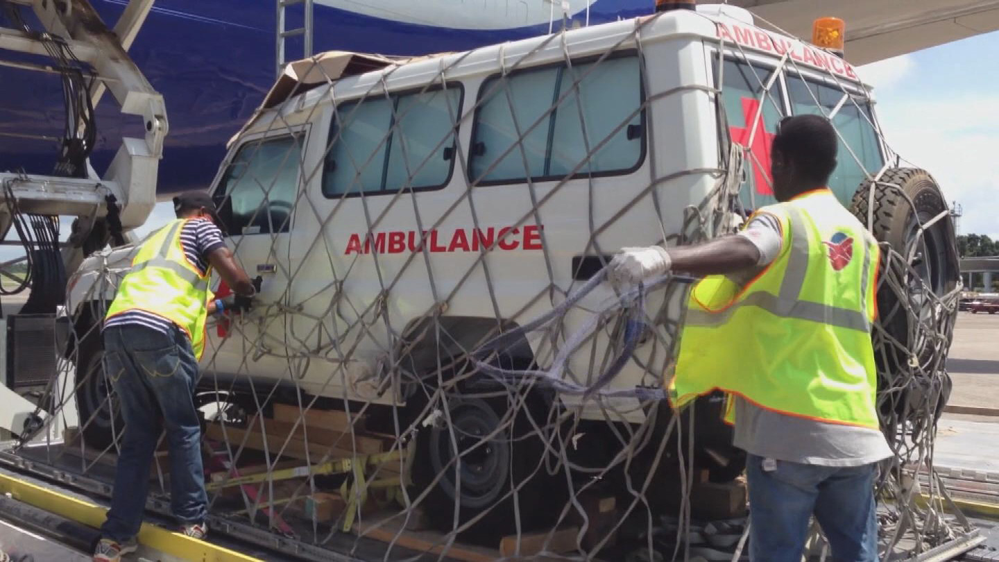 Selected frame from video story WEST AFRICA / EBOLA LOGISTICS