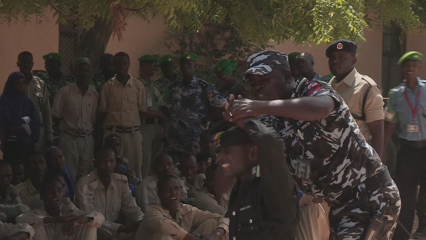 Selected frame from video story SOMALIA / MOGADISHU COMMUNITY POLICE