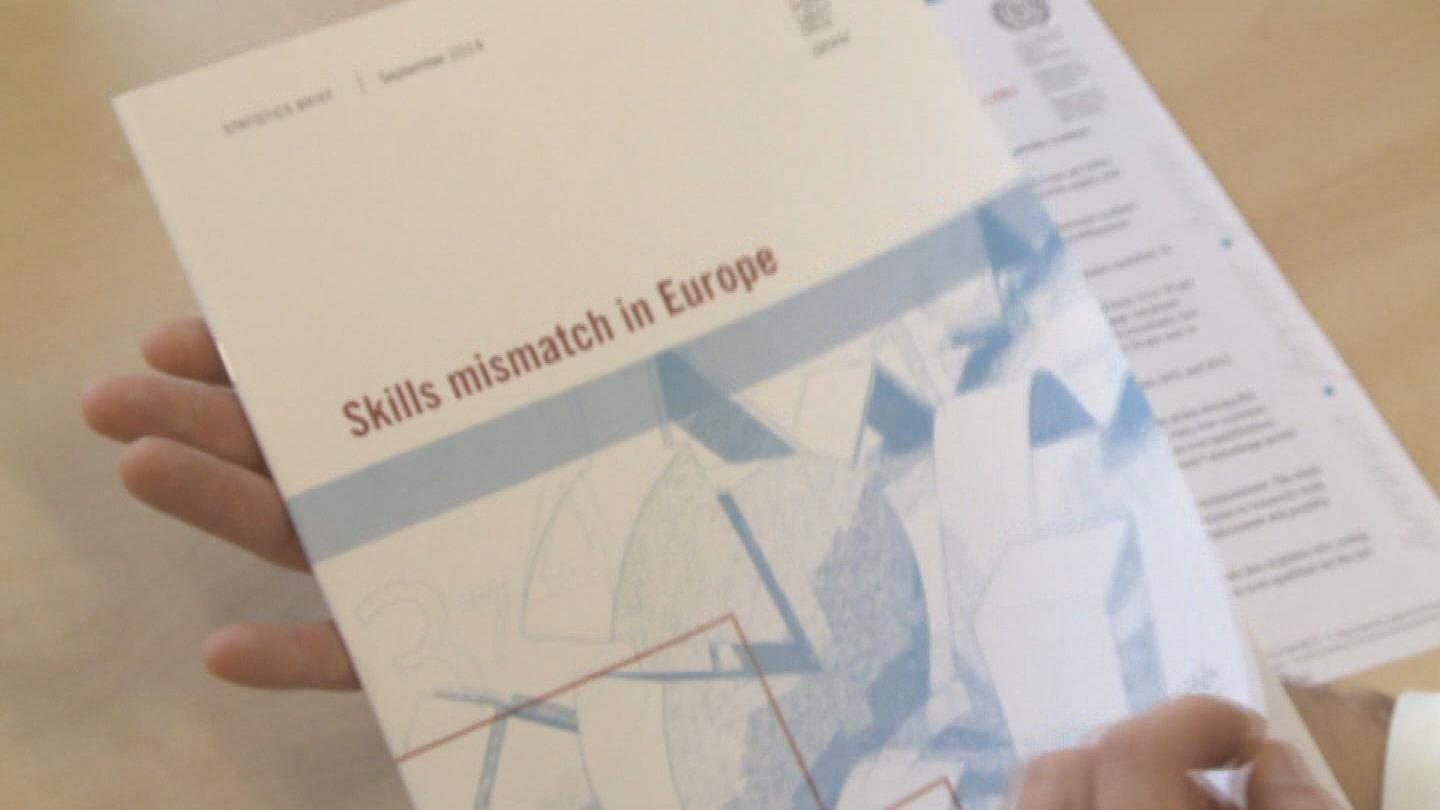 Selected frame from video story ILO / SKILLS MISMATCH IN EUROPE