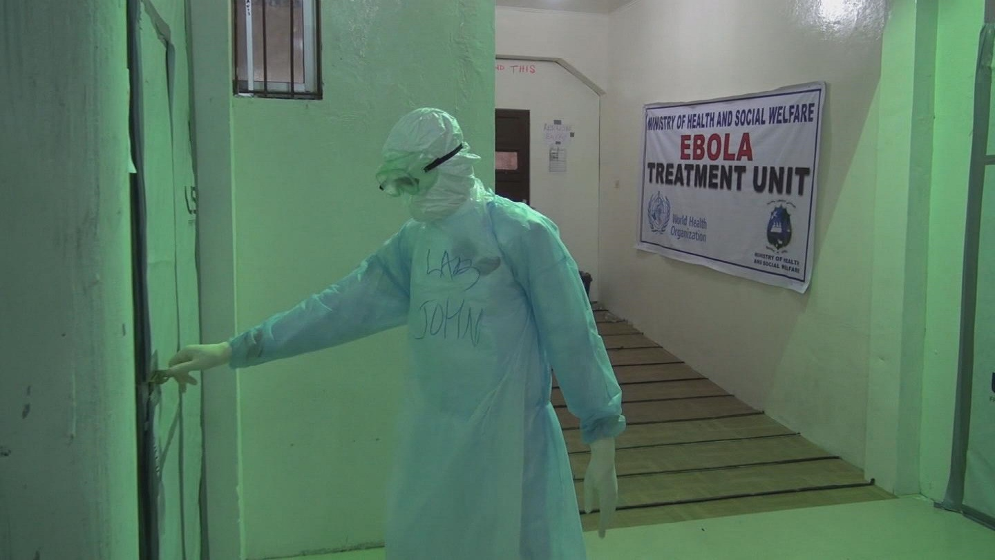 Selected frame from video story GENEVA / EBOLA EQUIPMENT GUIDELINES