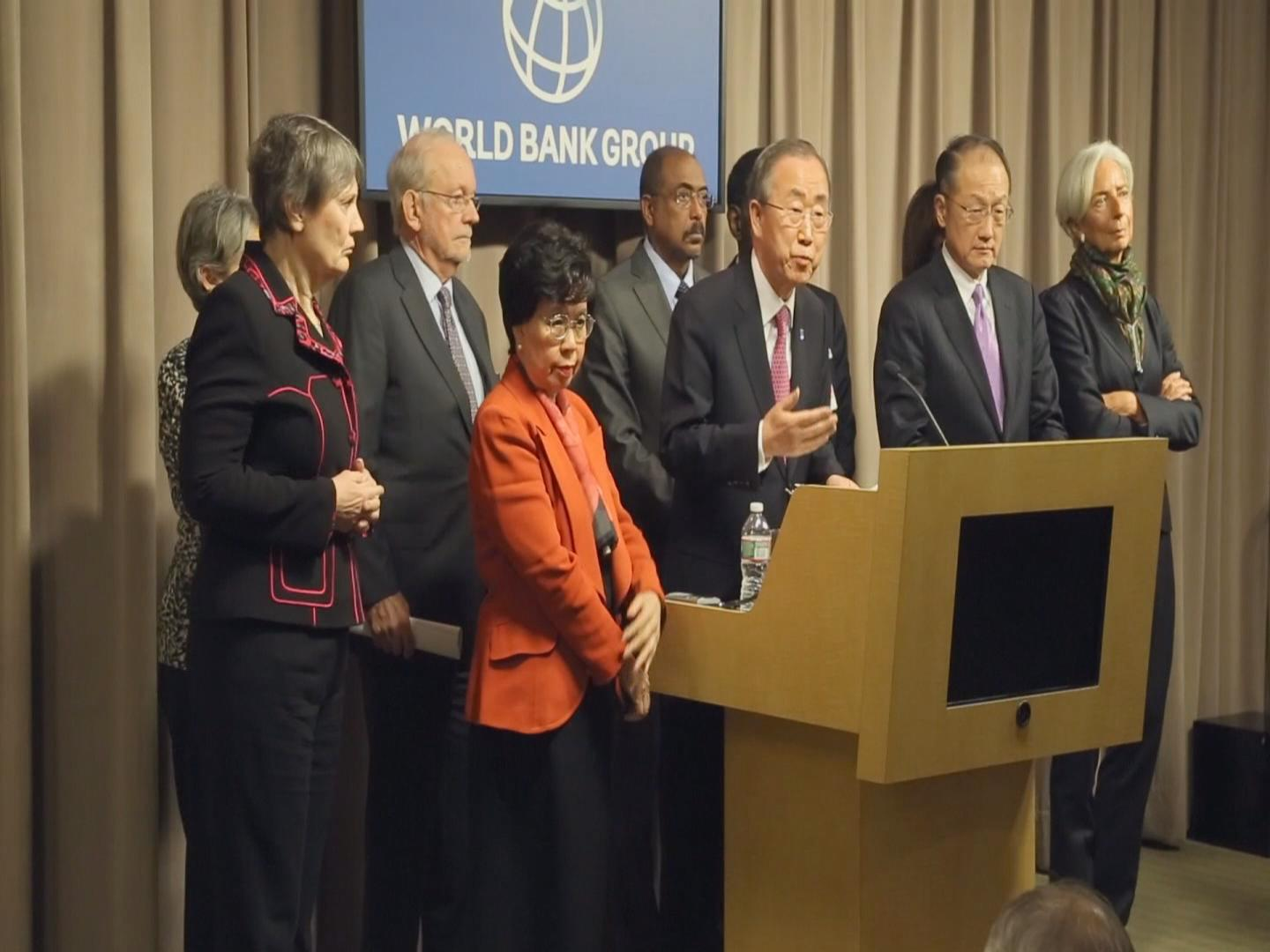 Selected frame from video story WORLD BANK / EBOLA BAN CHAN
