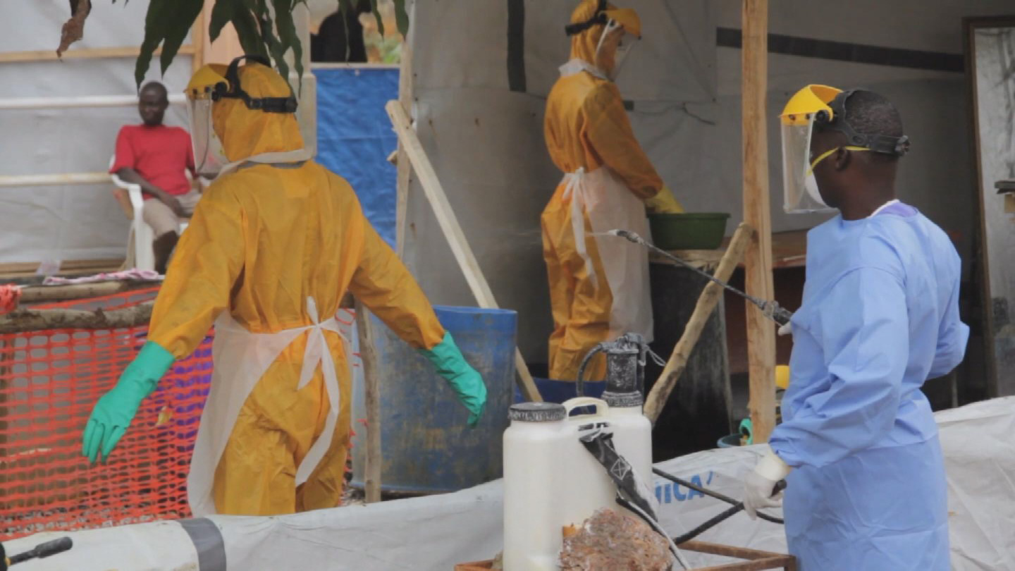 Selected frame from video story UNMEER / EBOLA TREATMENT UNIT