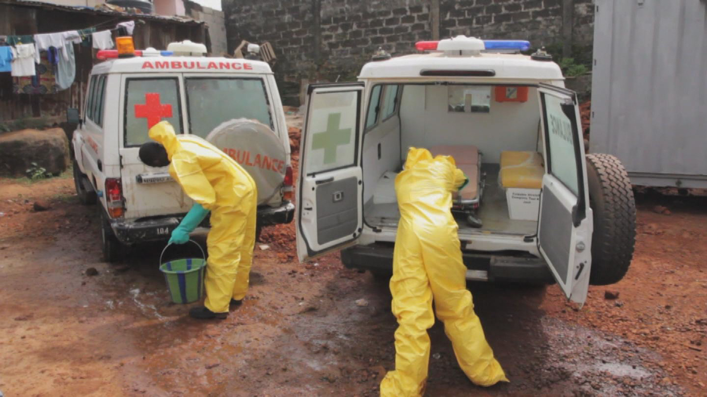 Selected frame from video story SIERRA LEONE / EBOLA AMBULANCES