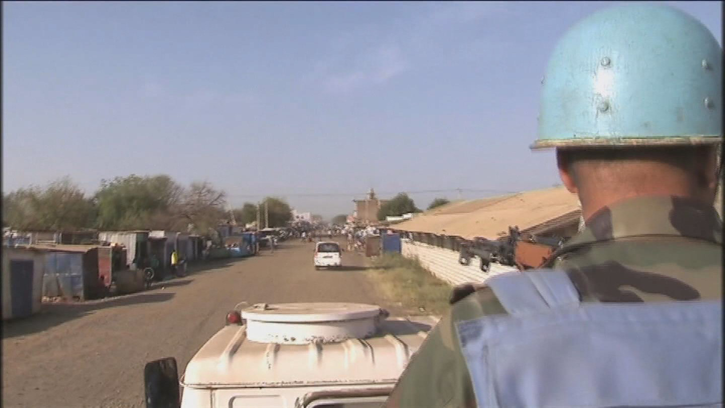 Selected frame from video story SOUTH SUDAN / PEACEKEEPERS PATROL