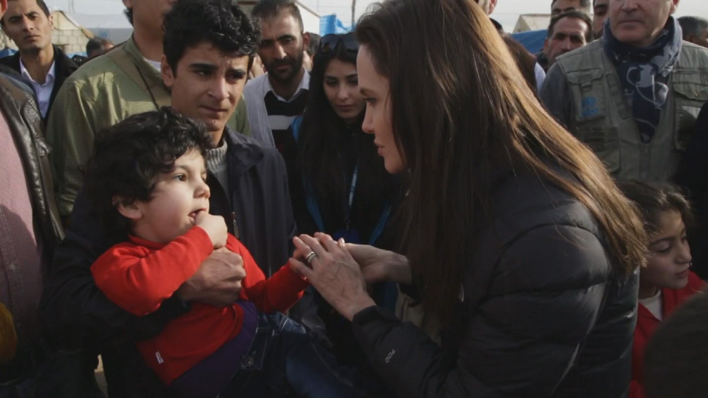 Selected frame from video story IRAQ / ANGELINA JOLIE