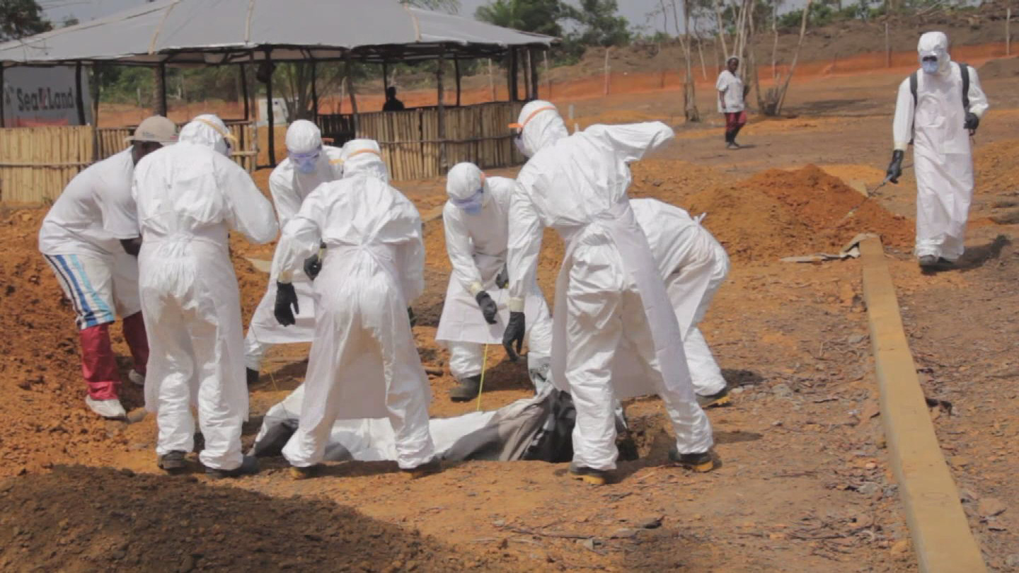 Selected frame from video story LIBERIA / EBOLA SAFE BURIALS