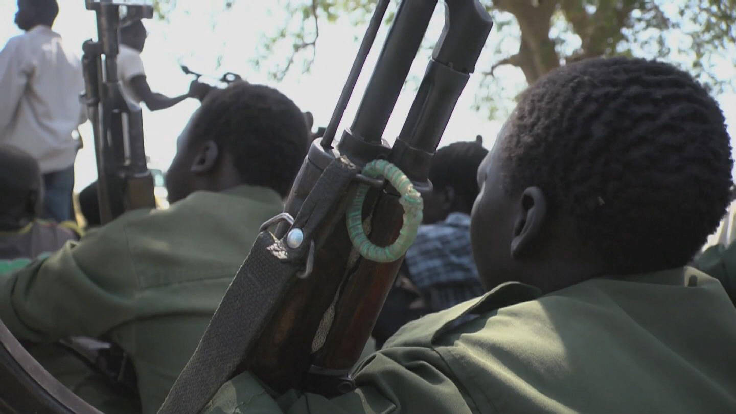 Selected frame from video story SOUTH SUDAN / CHILD SOLDIERS