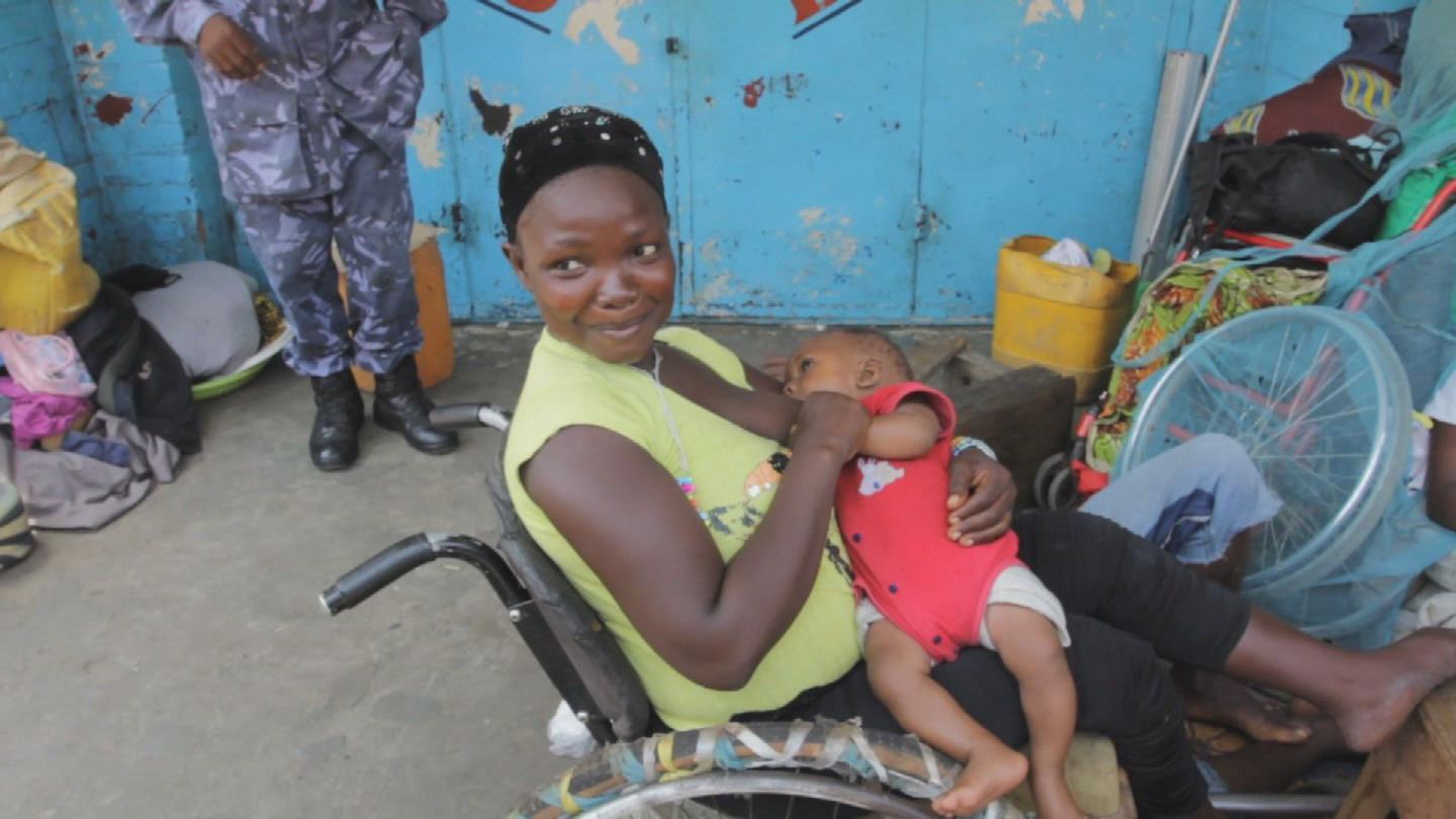 Selected frame from video story SIERRA LEONE / EBOLA DISABLED PEOPLE