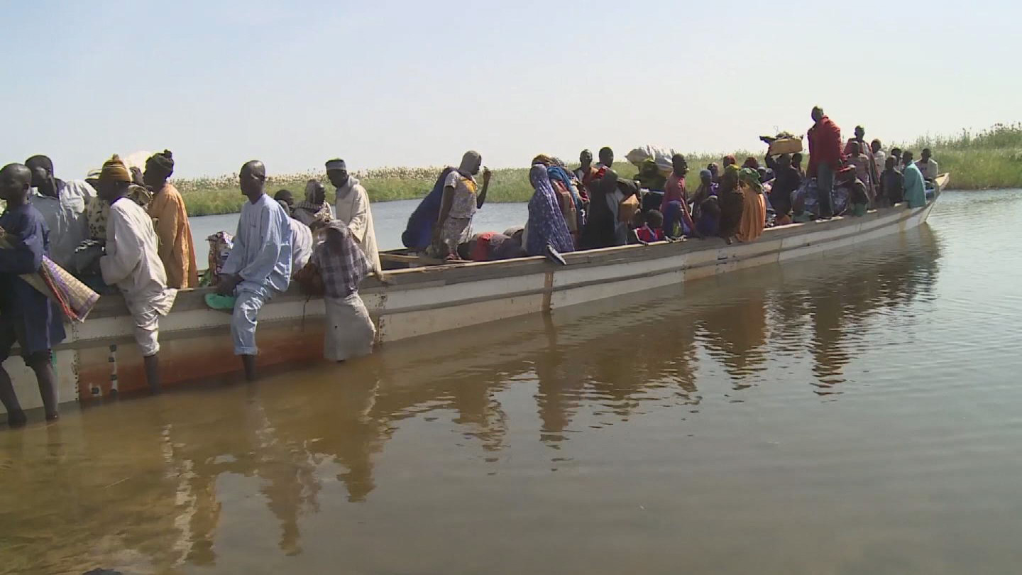 Selected frame from video story CHAD / NIGERIAN REFUGEES
