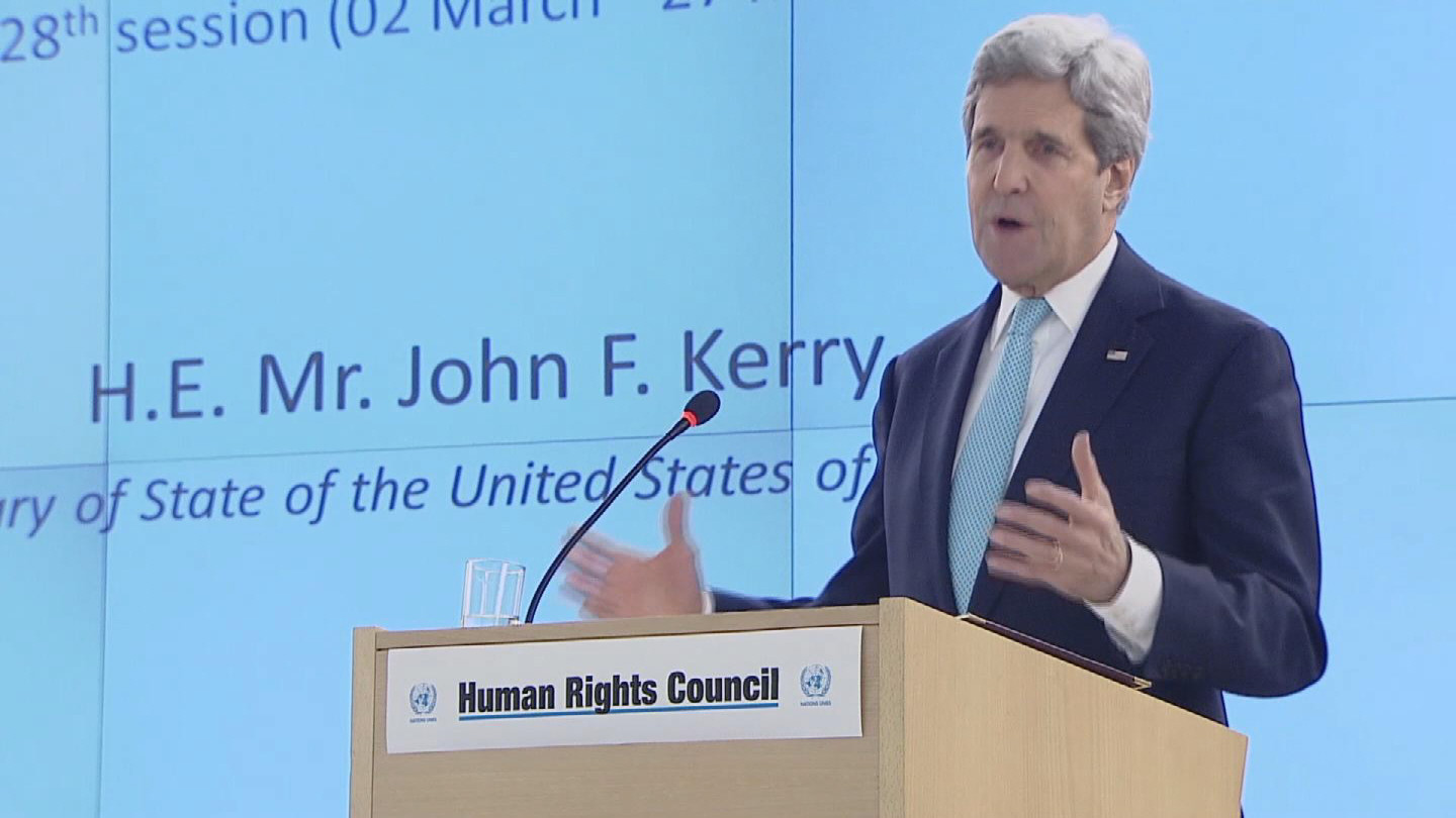 Selected frame from video story GENEVA / HRC KERRY