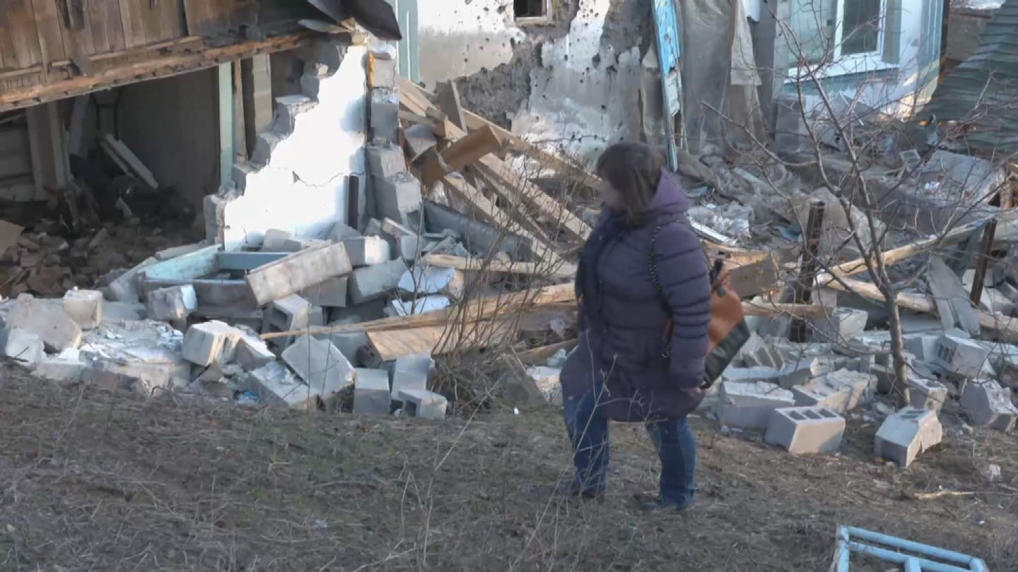 Selected frame from video story UKRAINE / DISPLACED MIRNE VYNOHRADNE