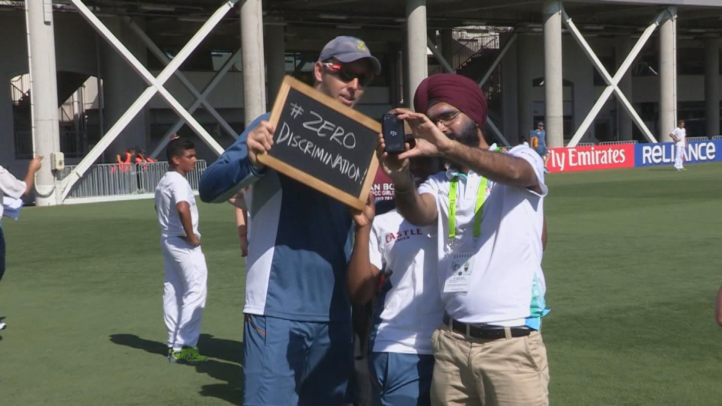 Selected frame from video story UNAIDS / CRICKET WORLD CUP 2015