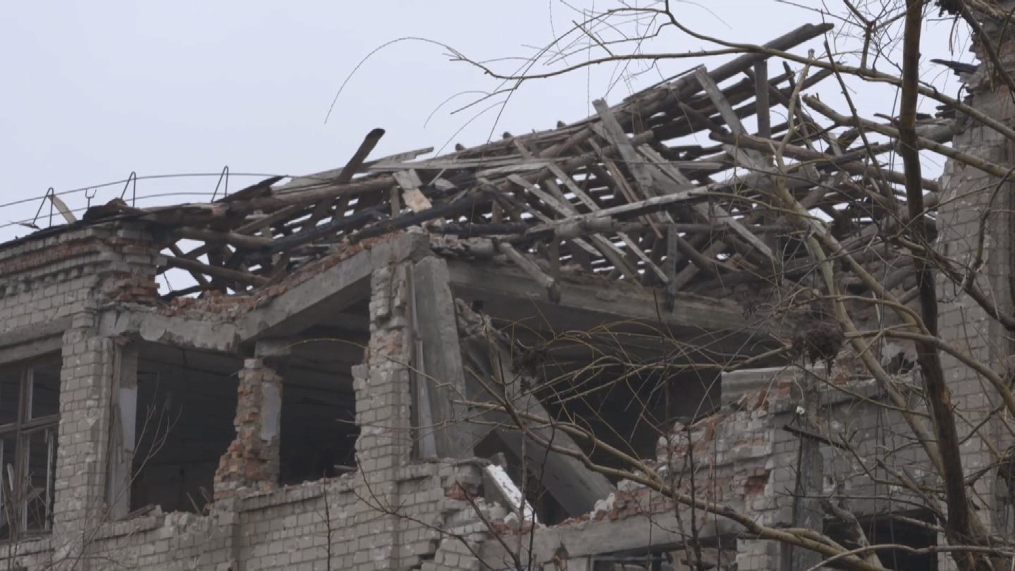 Selected frame from video story UKRAINE / DESTROYED TOWN