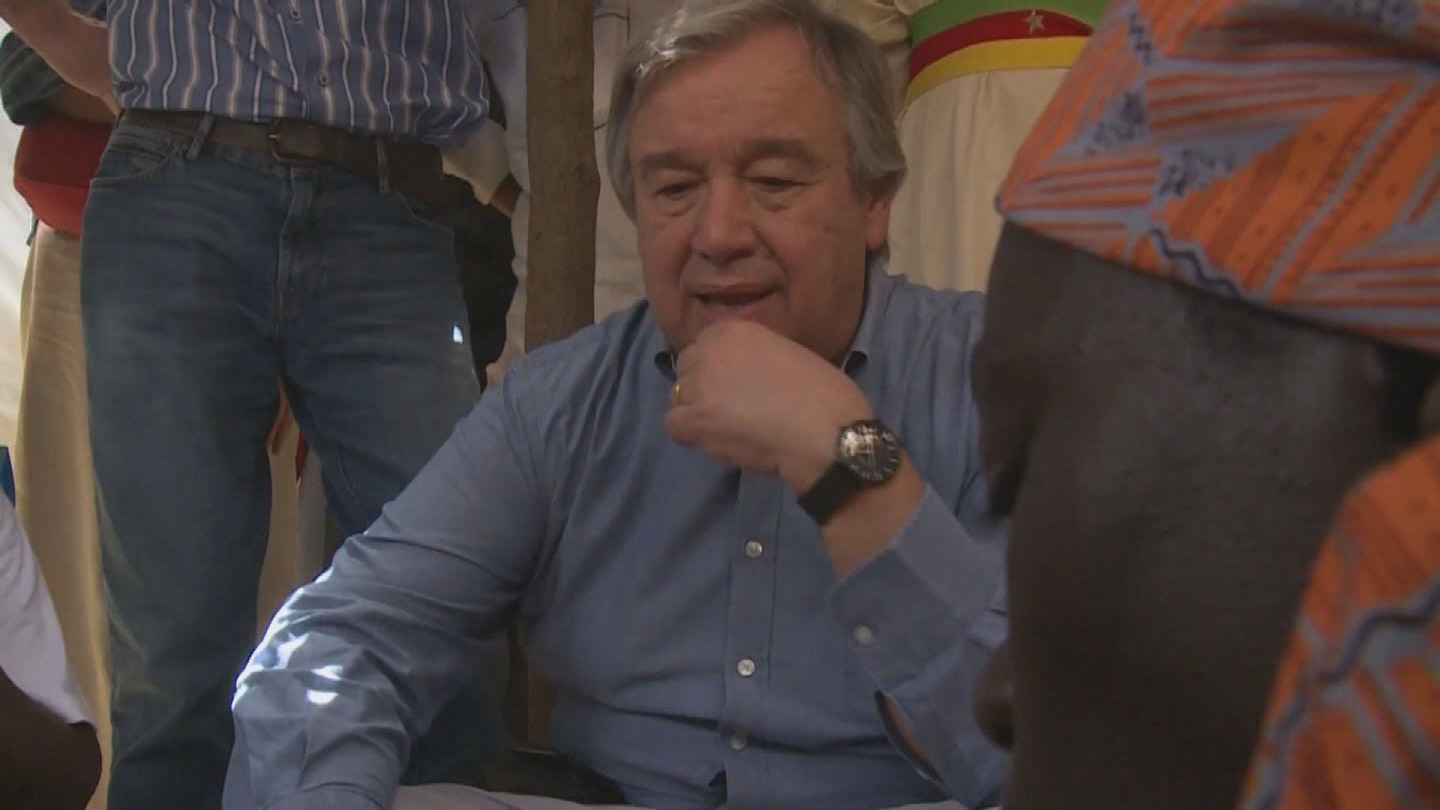 Selected frame from video story CAMEROON / GUTERRES VISIT