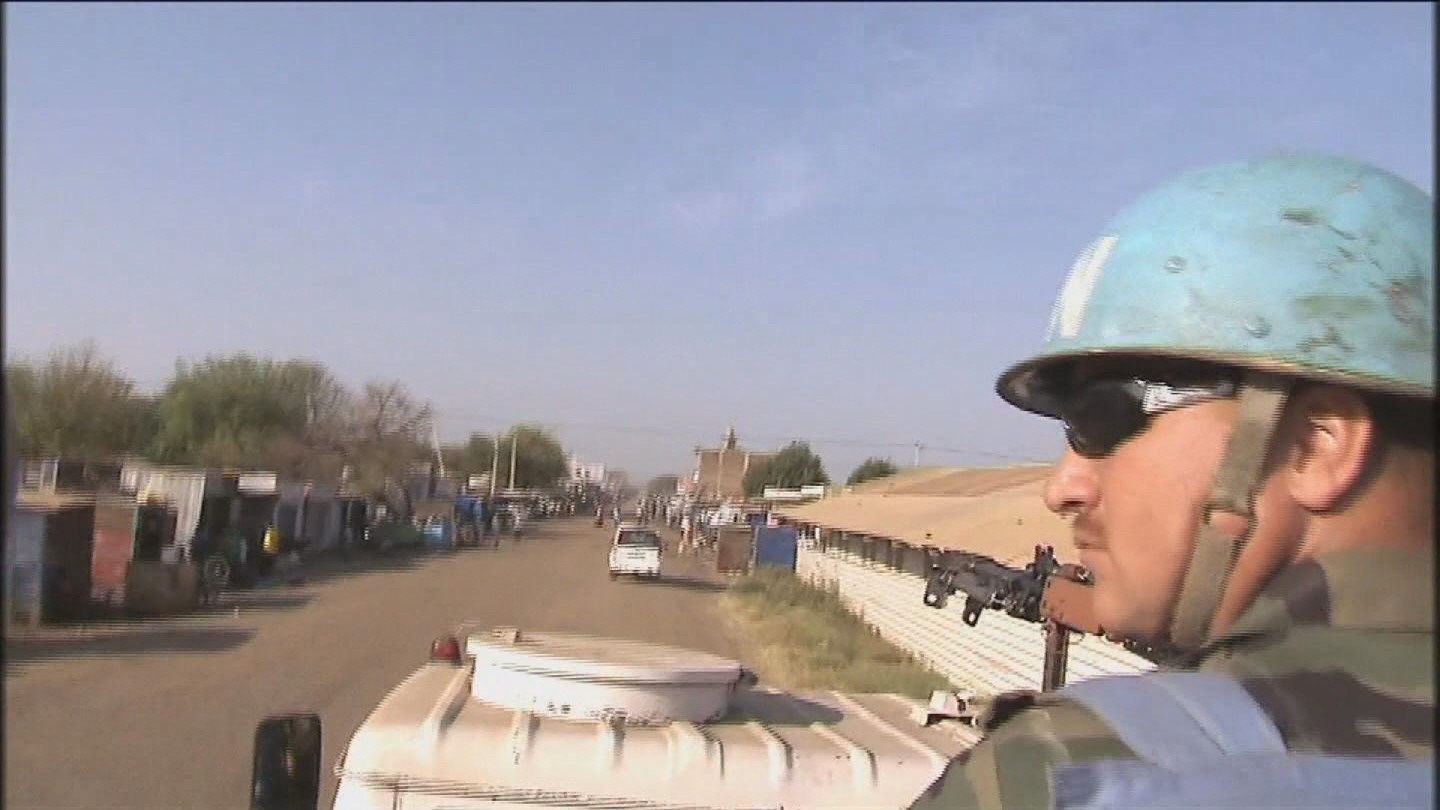 Selected frame from video story UN / TROOPS