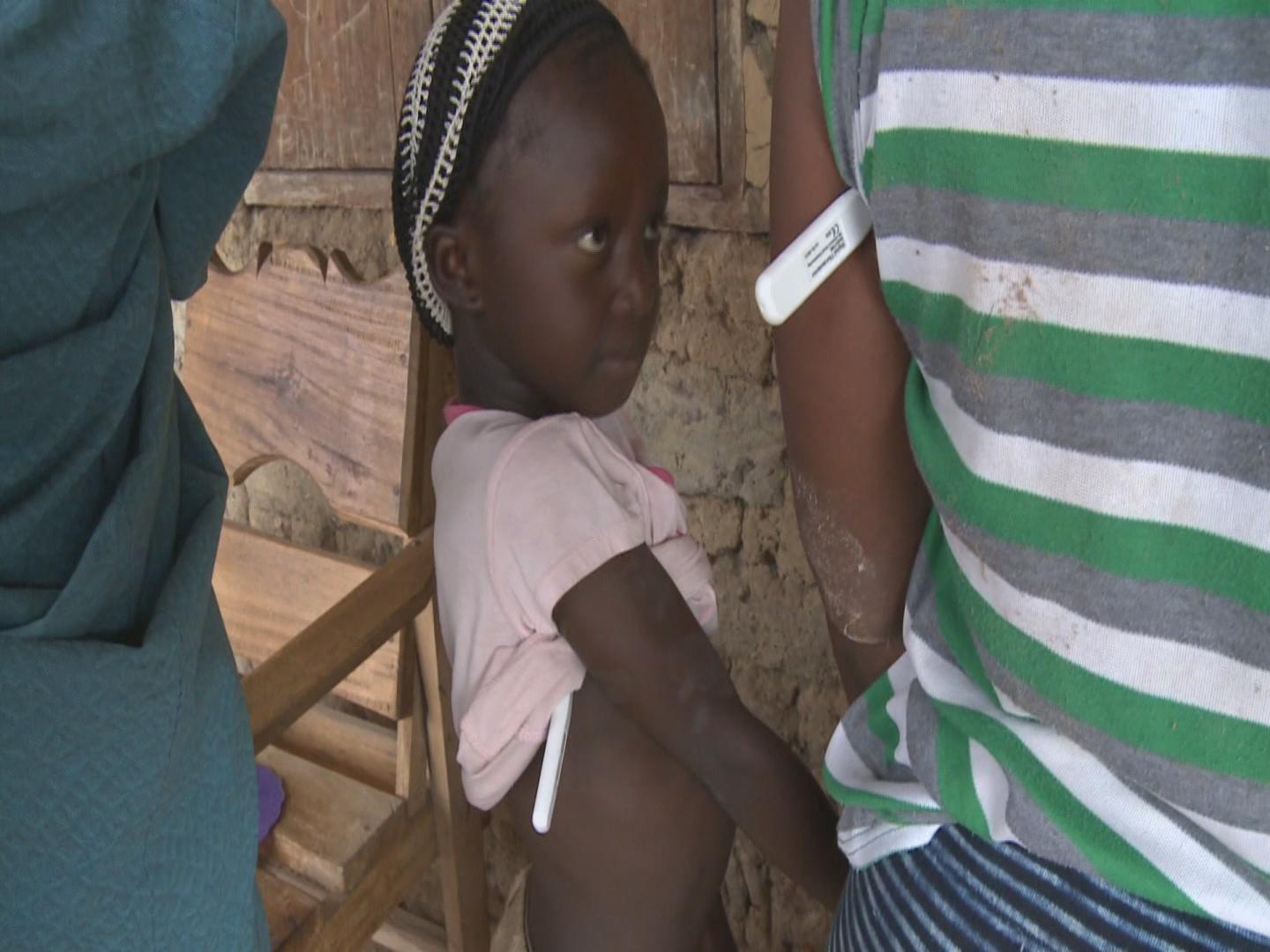 Selected frame from video story GENEVA / EBOLA CHILDREN