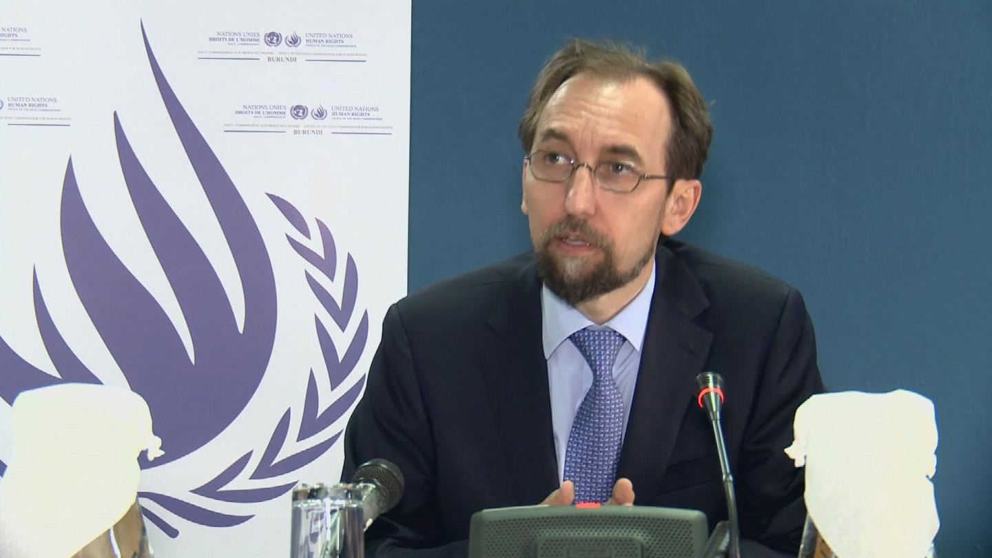Selected frame from video story BURUNDI / ZEID HUMAN RIGHTS