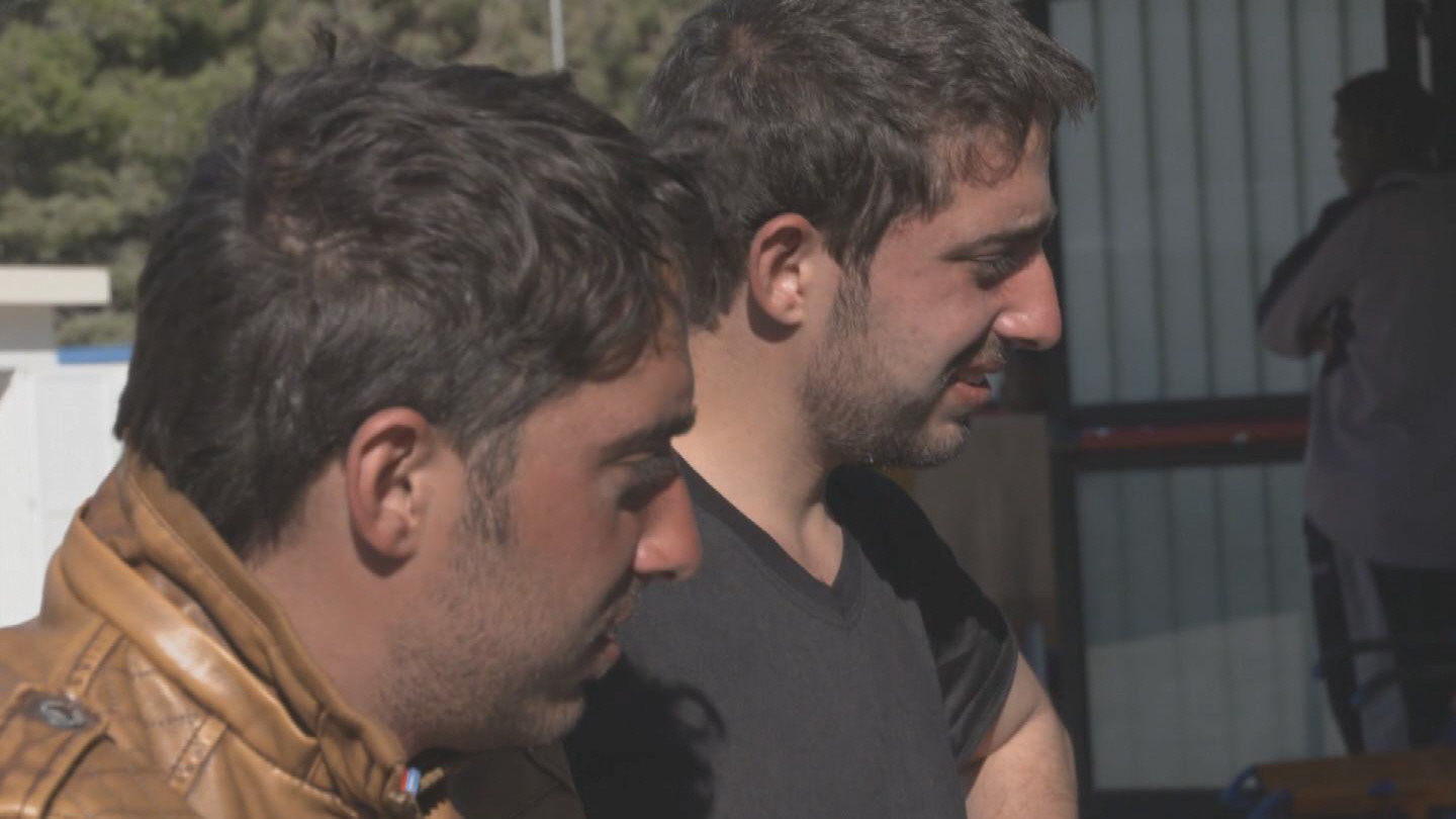 Selected frame from video story LAMPEDUSA / TWIN BROTHERS