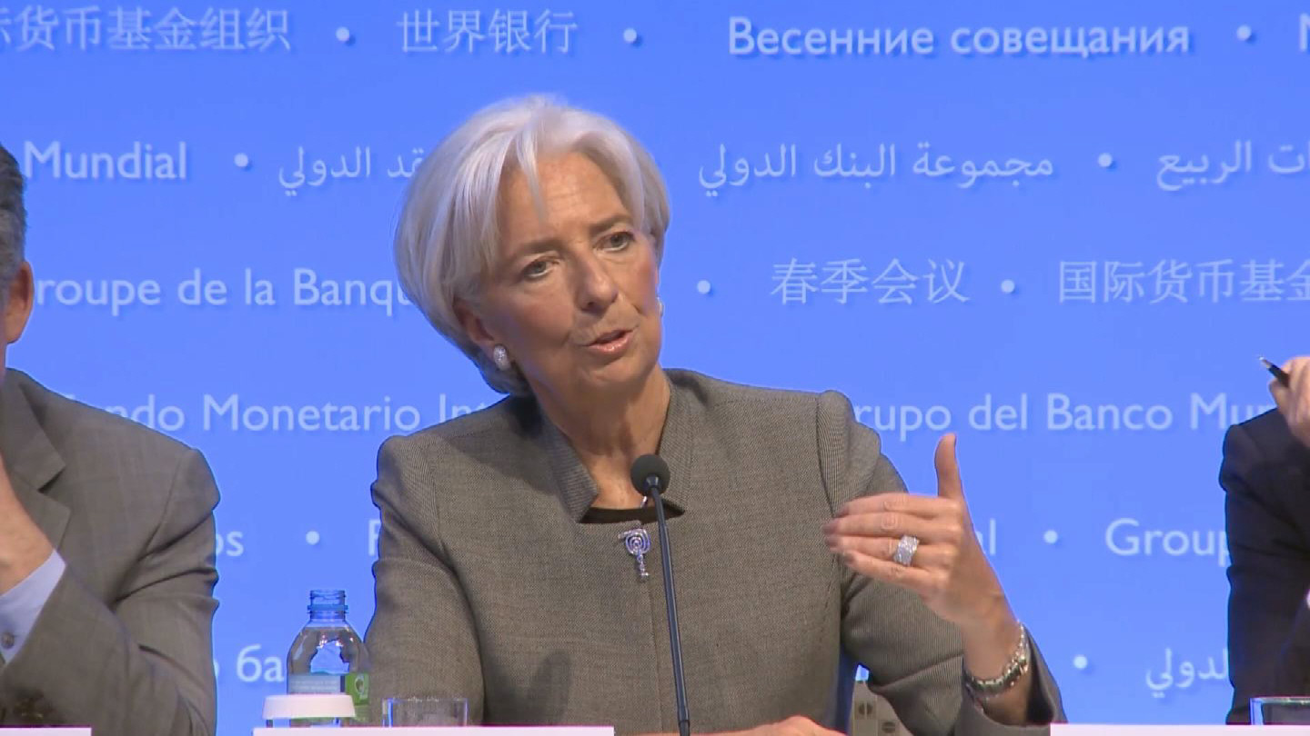 Selected frame from video story IMF/ LAGARDE PRESSER
