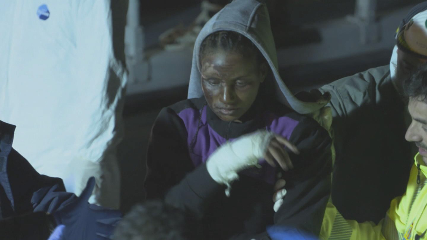 Selected frame from video story ITALY / LAMPEDUSA MIGRANTS WRAP