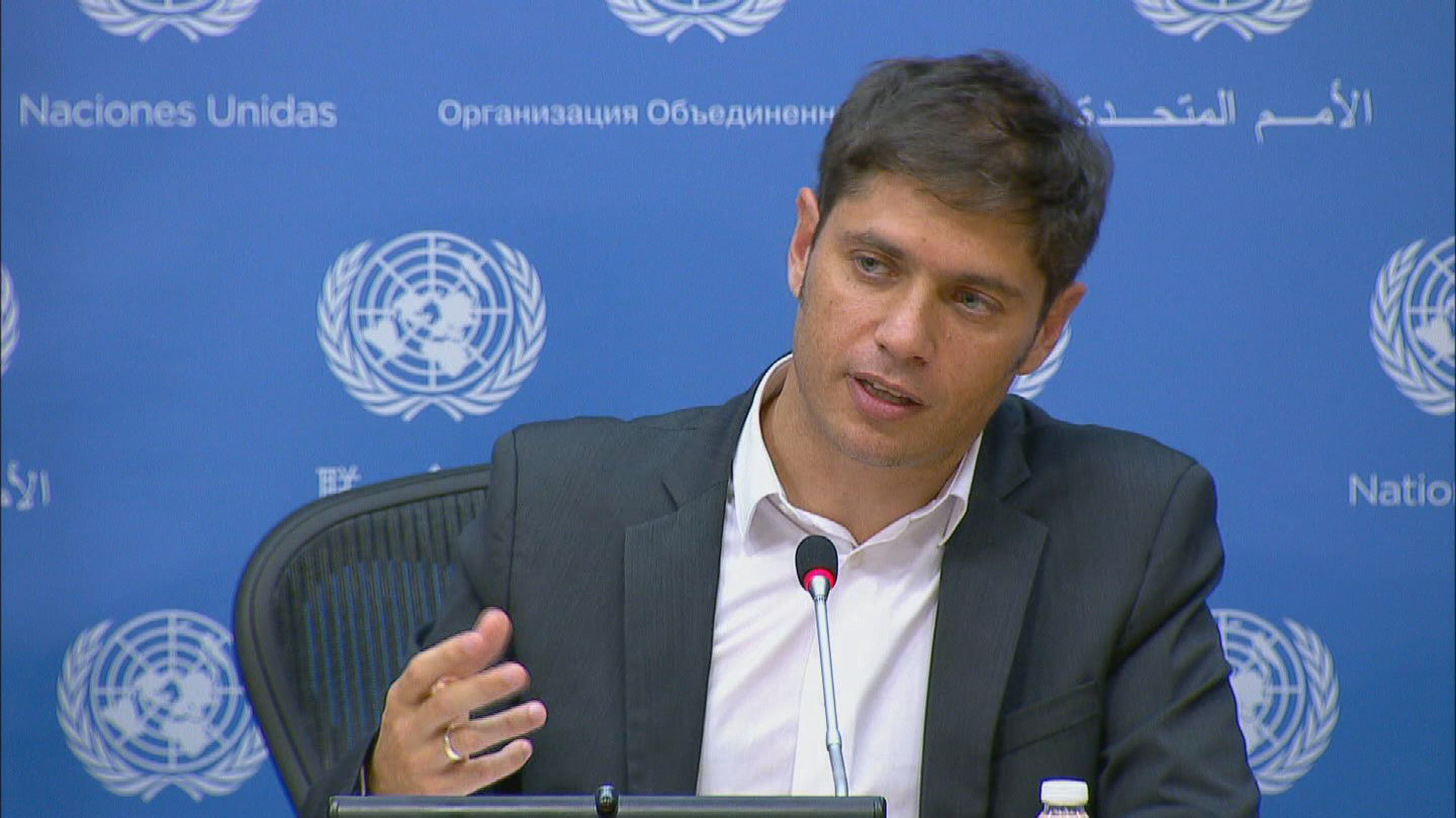 Selected frame from video story UN / KICILLOF ARGENTINA PRESSER