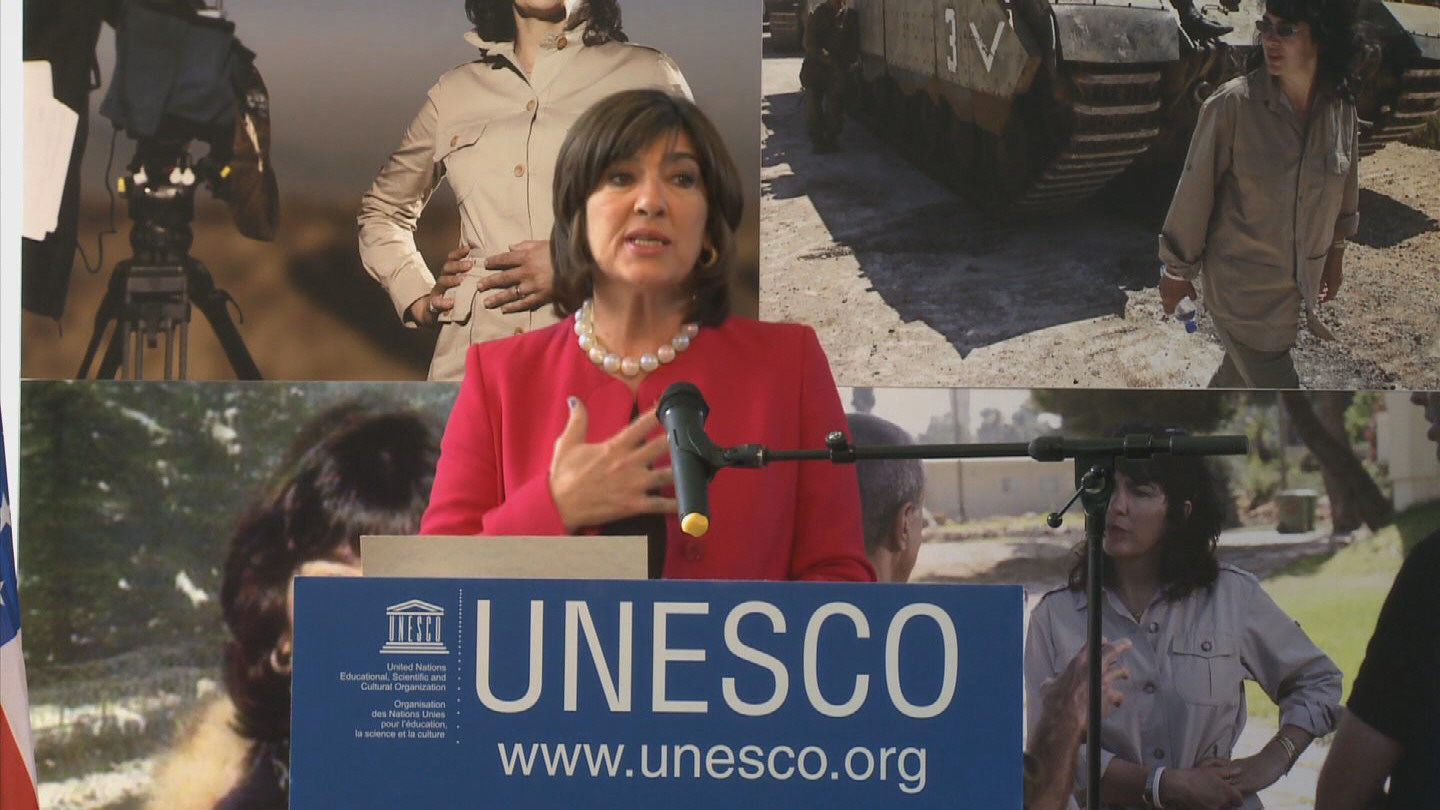 Selected frame from video story UNESCO / AMANPOUR
