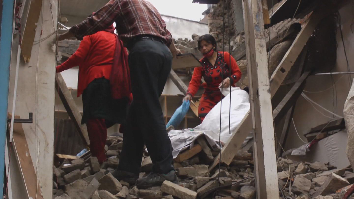 Selected frame from video story NEPAL / EARTHQUAKE 1