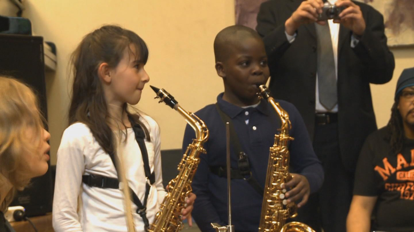 Selected frame from video story UNESCO / JAZZ DAY