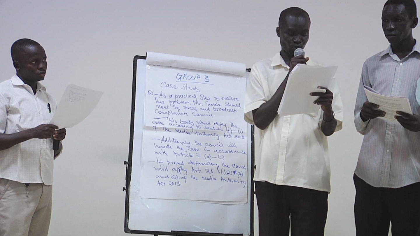 Selected frame from video story SOUTH SUDAN / PRESS FREEDOM DAY