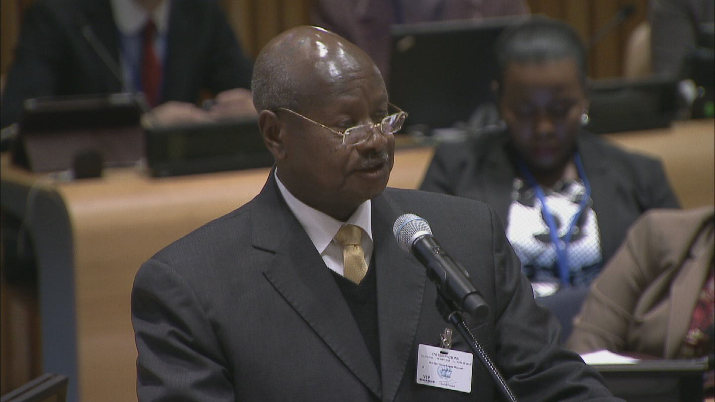 Selected frame from video story UN / UGANDA PRESIDENT MUSEVENI