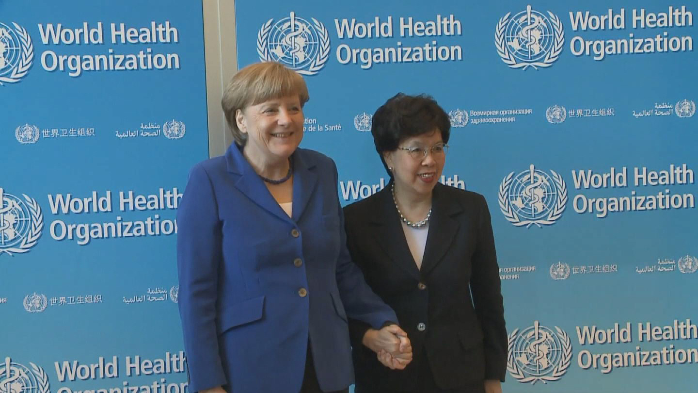 Selected frame from video story WHO / MERKEL CHAN